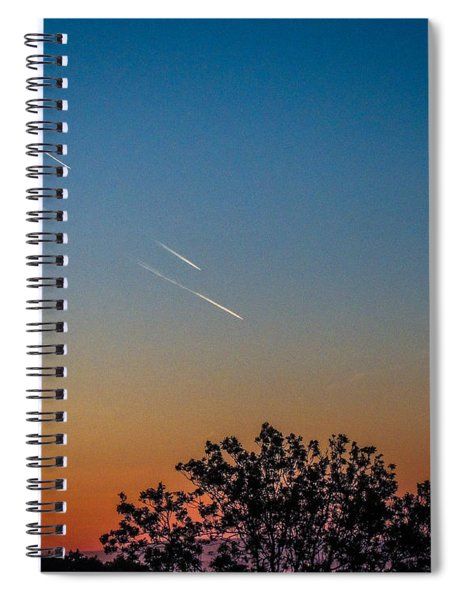 Squadron Of Jet Trails Over Ireland Spiral Notebook