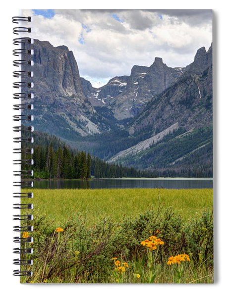 Squaretop Mountain And Upper Green River Lake  Spiral Notebook