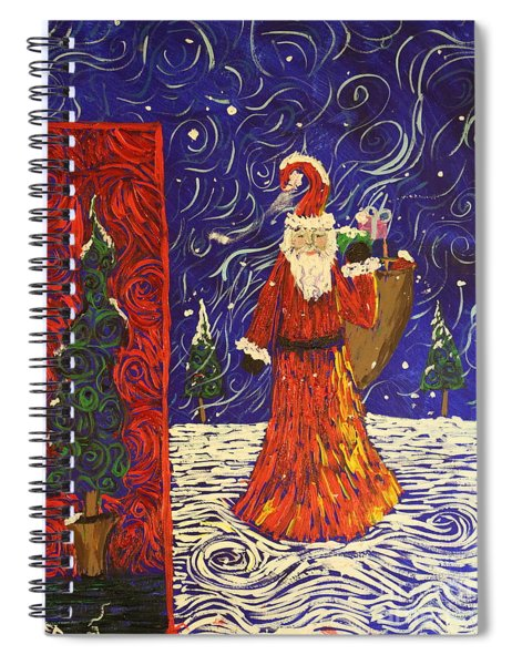 Squiggle Christmas Spiral Notebook
