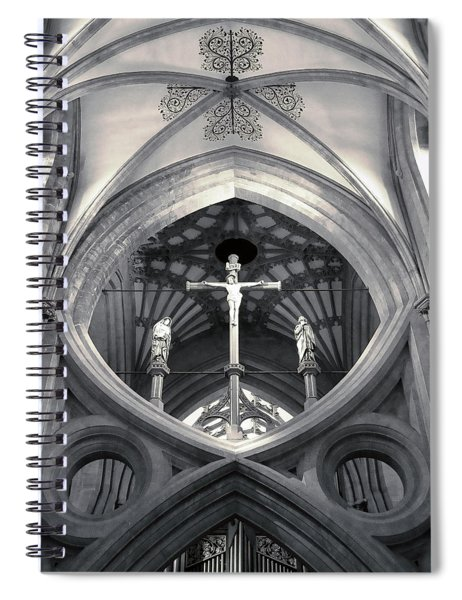St Andrews Cross Scissor Arches Of Wells Cathedral  Spiral Notebook