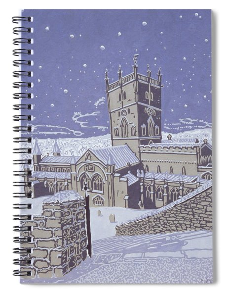 St David S Cathedral In The Snow Spiral Notebook