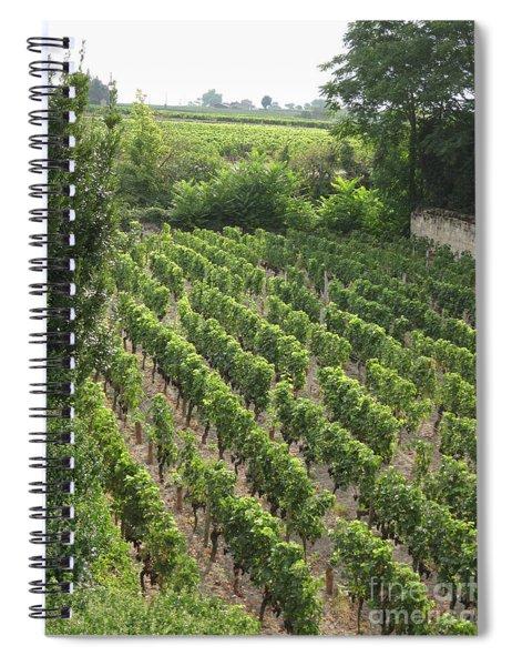 St. Emilion Vineyard Spiral Notebook