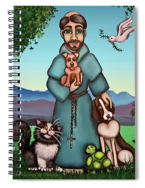 St. Francis Libertys Blessing Spiral Notebook