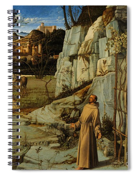 St Francis Of Assisi In The Desert Spiral Notebook