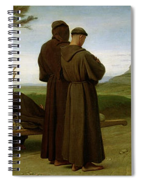 Saint Francis Of Assisi, While Being Carried To His Final Resting Place At Saint-marie-des-anges Spiral Notebook