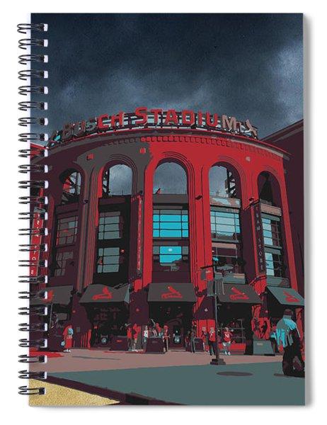 St. Louis Busch Stadium Cardinals 9162 Art Spiral Notebook