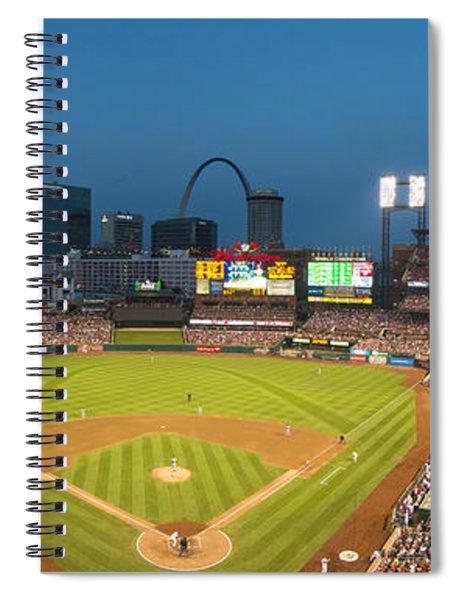 St. Louis Cardinals Busch Stadium Pano 5 Spiral Notebook