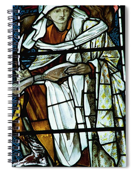 St Luke In Stained Glass Spiral Notebook