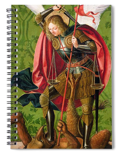 St. Michael Killing The Dragon  Spiral Notebook