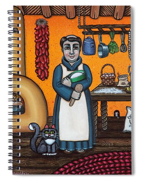 St. Pascual Making Bread Spiral Notebook