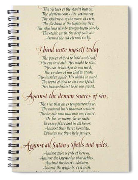 St Patrick's Breastplate Spiral Notebook