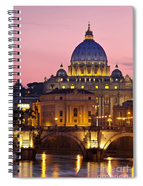 Spiral Notebook featuring the photograph St Peters Basilica by Brian Jannsen