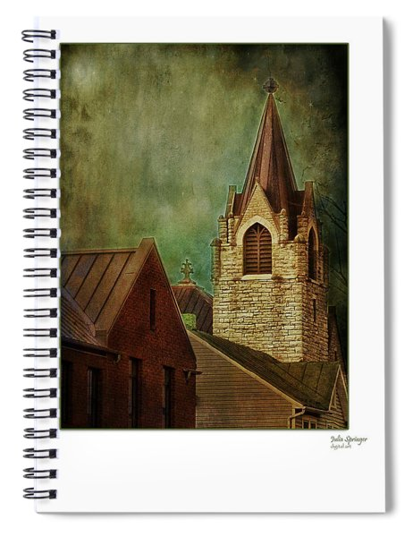 St Peter's By Night Greeting Card Spiral Notebook