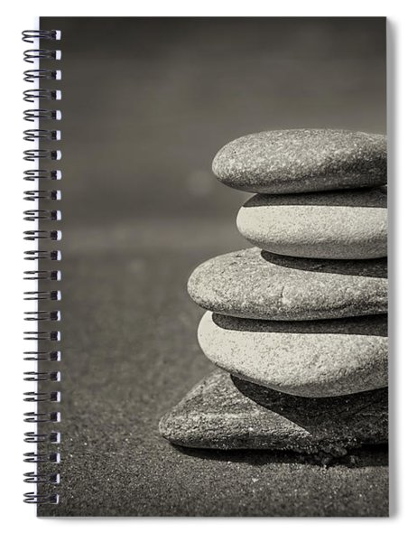 Stacked Pebbles On Beach Spiral Notebook