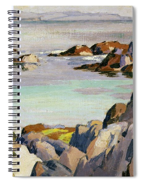 Staffa And Rhum From Iona Spiral Notebook