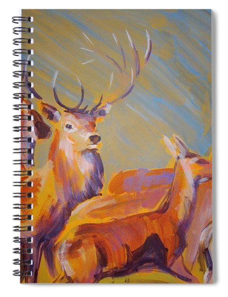 Stag And Deer Painting Spiral Notebook