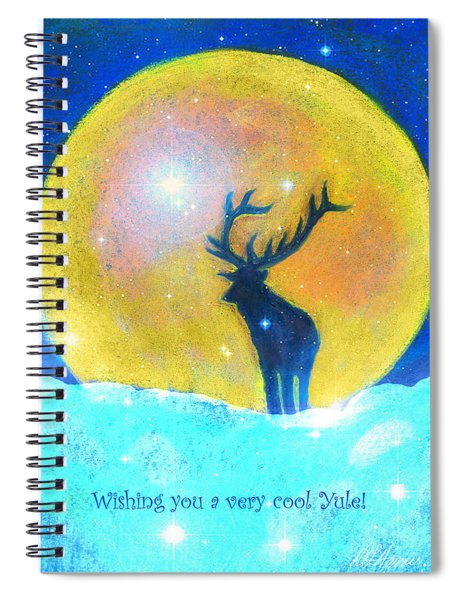 Stag Of Winter Spiral Notebook
