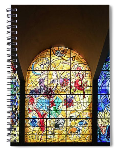 Stained Glass Chagall Windows Spiral Notebook