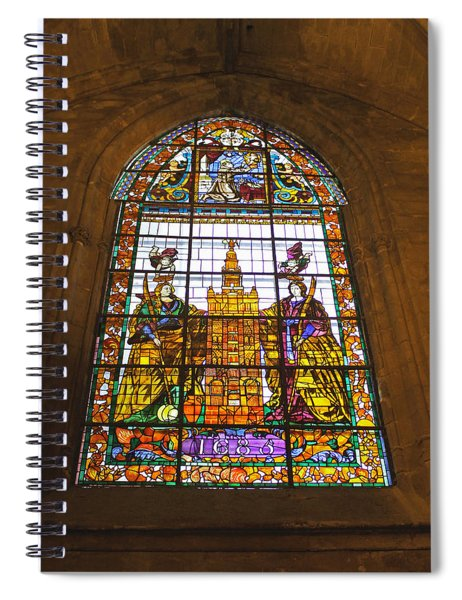 Stained Glass Window In Seville Cathedral Spiral Notebook