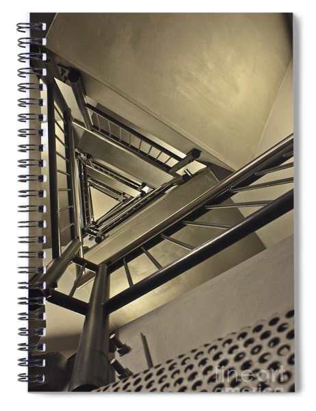 Stairing Up The Spinnaker Tower Spiral Notebook