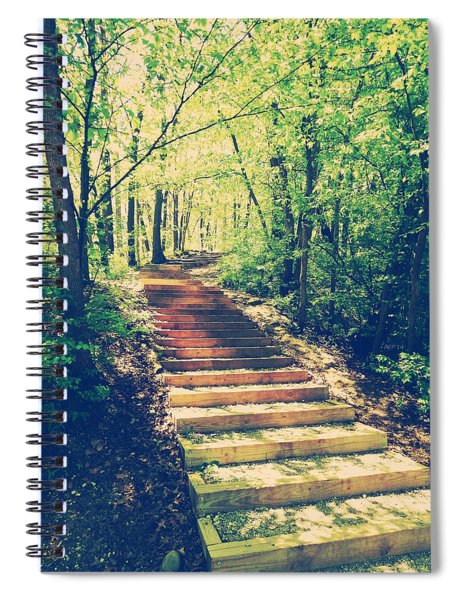 Stairway Into The Forest Spiral Notebook