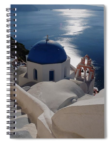 Stairway To The Blue Domed Church Spiral Notebook