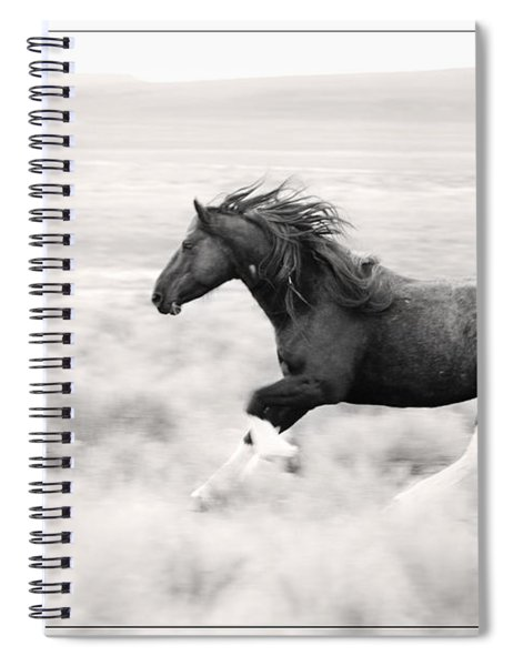 Stallion Blur Spiral Notebook