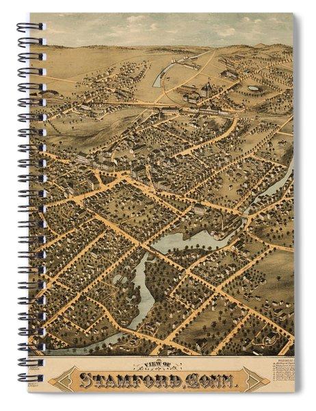 Stamford Connecticut 1875 Spiral Notebook