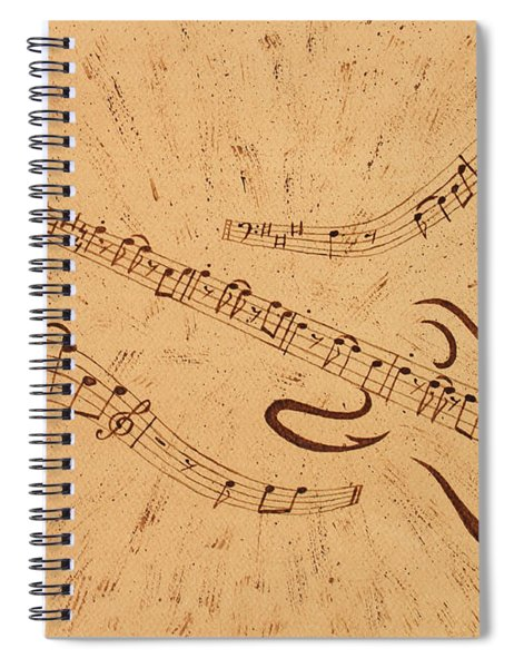 Stand By Me Guitar Notes Original Coffee Painting Spiral Notebook