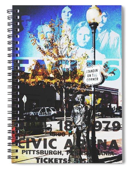 Standin On The Corner Spiral Notebook
