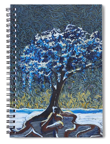 Standing Alone In The Snow Spiral Notebook