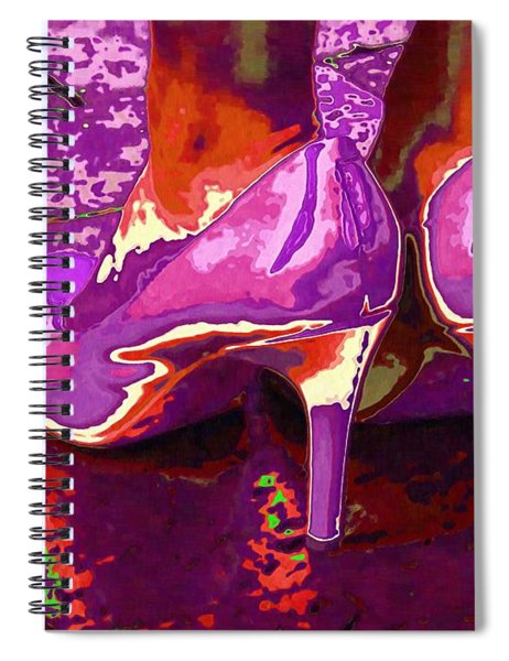 Standing In The Purple Rain Spiral Notebook