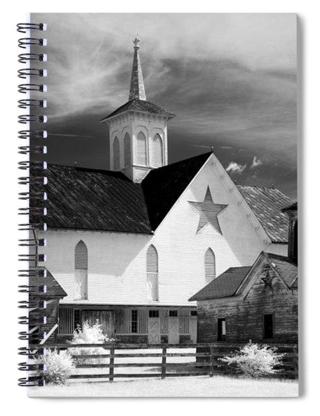 Star Barn Complex In Infrared Spiral Notebook