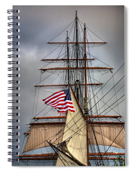 Star Of India Stars And Stripes Spiral Notebook