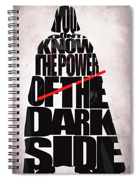 Star Wars Inspired Darth Vader Artwork Spiral Notebook