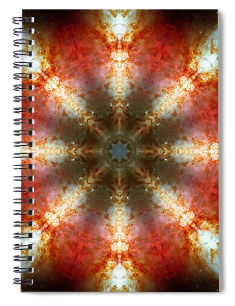 Starburst Galaxy M82 II Spiral Notebook