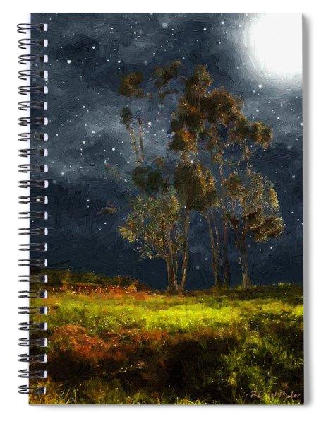 Starfield Spiral Notebook