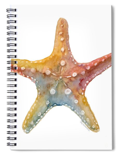 Starfish Spiral Notebook