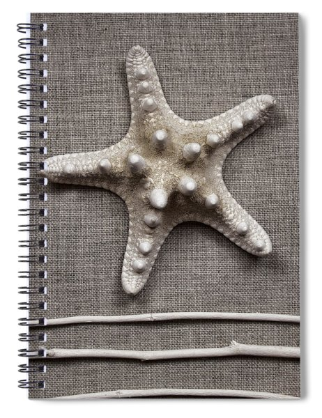 Starfish And Sticks Spiral Notebook
