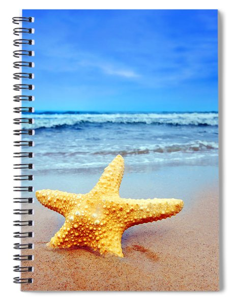 Starfish On A Beach   Spiral Notebook
