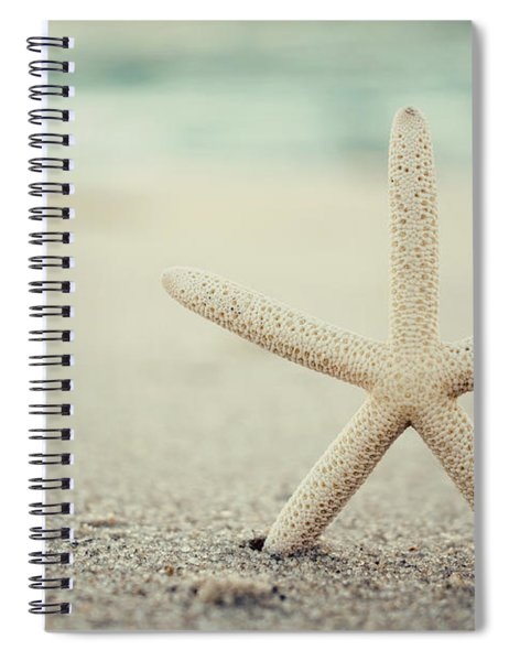 Starfish On Beach Vintage Seaside New Jersey  Spiral Notebook