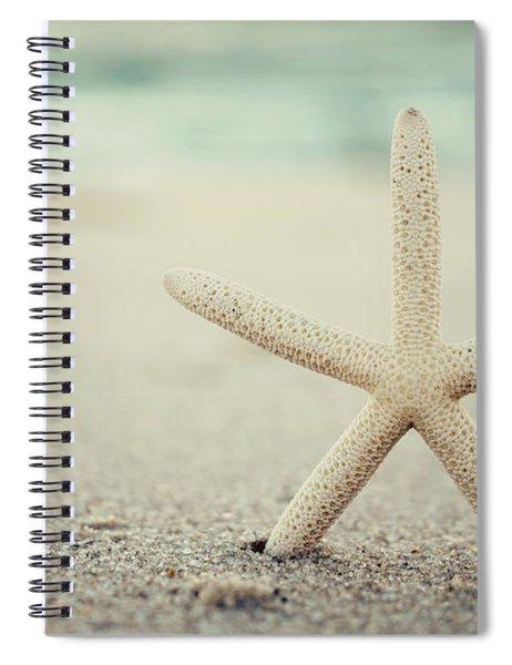 Starfish On Beach Vintage Seaside New Jersey  Spiral Notebook