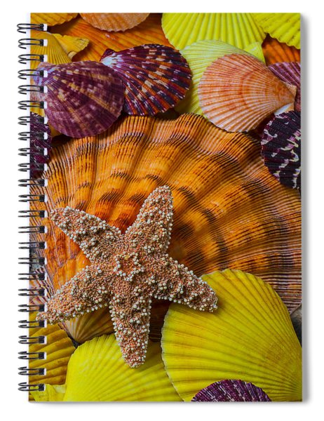 Starfish With Seashells Spiral Notebook