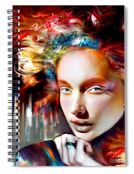 Stargirl I Bleed Color Spiral Notebook