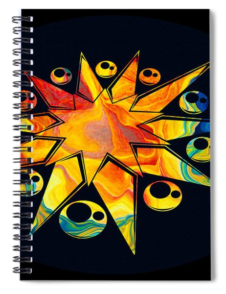 Staring Into Eternity Abstract Stars And Circles Spiral Notebook