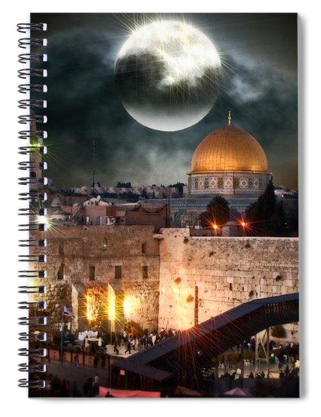 Full Moon Israel Spiral Notebook