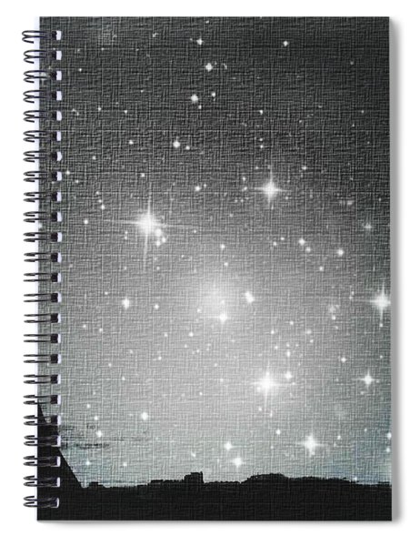 Starry Night In Paris - Eiffel Tower Photography  Spiral Notebook