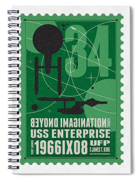 Starschips 34-poststamp - Uss Enterprise Spiral Notebook