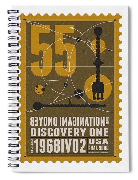 Starschips 55-poststamp -discovery One Spiral Notebook