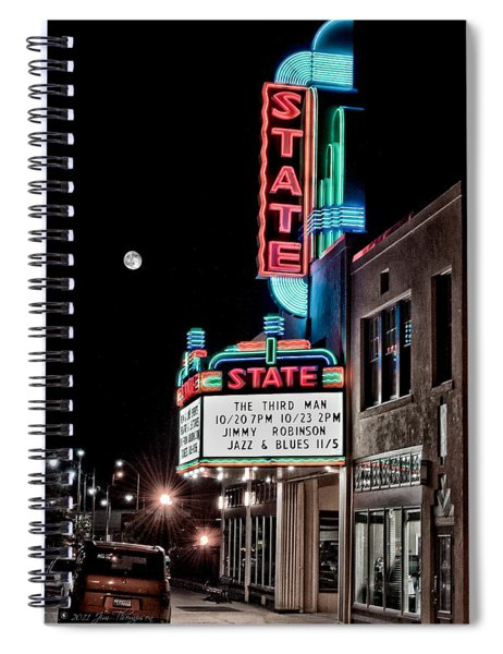 Spiral Notebook featuring the photograph State Theater by Jim Thompson